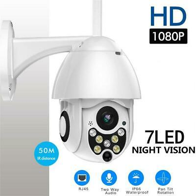 HD 1080P 7LEDs PTZ Control IP Camera WIFI Dome Night Vision Motion Detection Cam