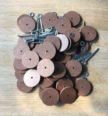 30mm Teddy Bear Cotter Pin Joints (hardboard) x 25 pins & 50 disks (for 5 bears)