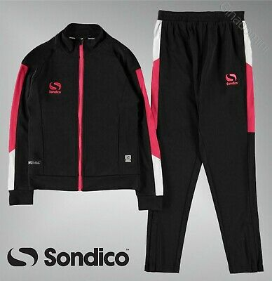 Girls Sondico Full Zip Elasticated Strike Tracksuit Sizes Age from 7 to 13 Yrs