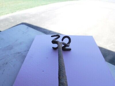 """RARE Vintage Hand Forged Branding Iron Cattle Cowboy Ranch Cast """"32"""" Thirty Two"""