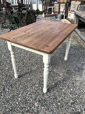 Vintage Shabby Chic Dining Pine Top Table - SC381