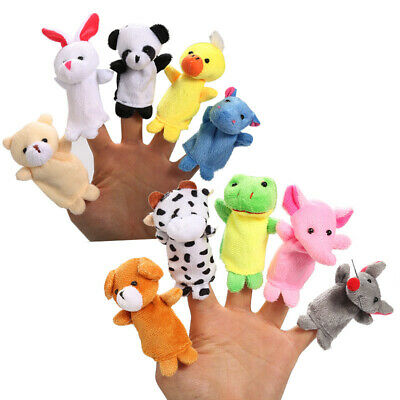 Kids Baby Finger Animal Educational Story Toys Puppets Cloth Plush 10 Pcs/Pack