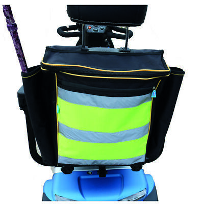 Mobility Scooter Bag - High visibility storage bag to fit a mobility scooter.