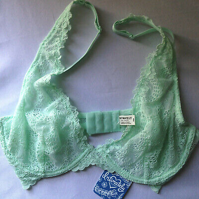 NWT Intimately Free People Sexy Green Mint Scalloped Lace Designer Bra 32B $58