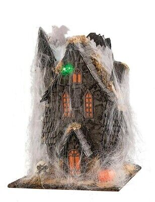 Victorian Trading Co Howling Lighted Haunted House w/ Cobwebs Battery Op
