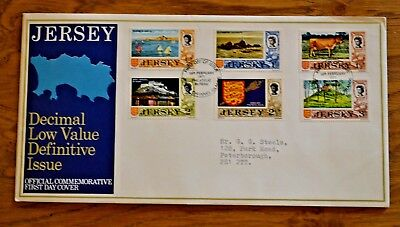 Jersey First Day Cover; February 1971; Decimal Low Value Definitive Issue