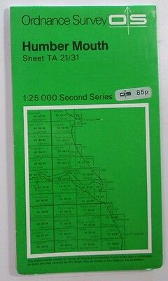 1978 old OS Ordnance Survey Second Series Pathfinder Map TA 22/31 Humber Mouth