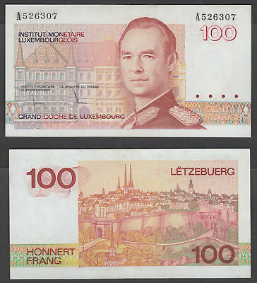 Luxembourg 100 Francs ND 1986 (XF) Condition Banknote KM #58a