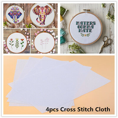 White Cotton 11 Count Cloth Cross Stitch Fabric Use for Embroidery Accessory AU