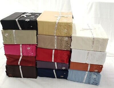 2000 Collection 4pc Easy Care Polyester Deep Pocket Sheet Set Flat, Fitted, 2 PC