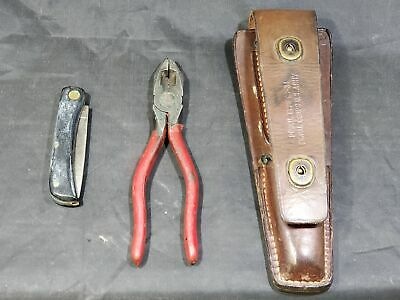 WWII US Army Signal Corps Lineman Pouch With Tools