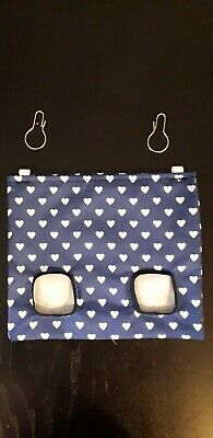 Fabric Hay bag navy hearts - guinea pig, bunny