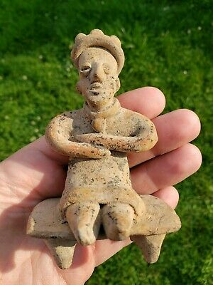 Rare COLIMA Seated Figure, Precolumbian, Mayan Jalisco MAKE AN OFFER
