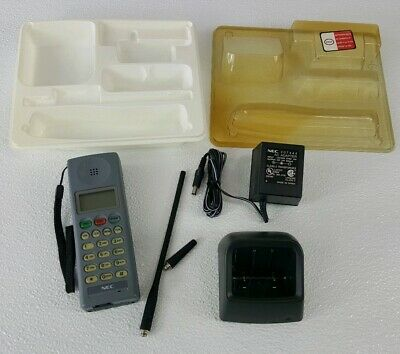 Vintage NEC Talk Time MVP Portable Cellular Phone MP5A 1B2-1A