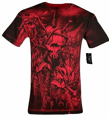 XTREME COUTURE by AFFLICTION Men T-Shirt HEADHUNTER Tattoo Biker MMA S-5X $40