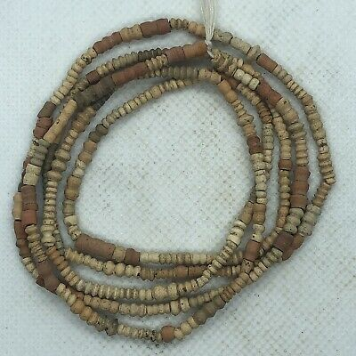 150-350 AD Ancient Coptic Terracotta Bead Rosary Necklace North African Artifact