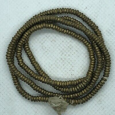 1300-1800 AD African Trade Beads Brass Bronze Strand Authentic Antique Artifacts