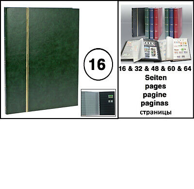Look 158 Green A4 Stamp Album Stockbook Album 16 Black Pages