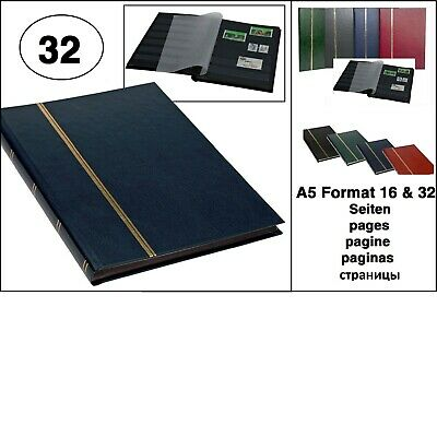 Look Blue Stamp Album Stockbook Album A5 Book Style 32 Black Pages