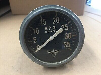 Stewart Warner Winged Mechanical Tachometer Wings Flathead Ford 32 Gauge Tach
