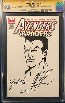 ALEX ROSS signed ORIGINAL MARK BAGLEY Sketch Art CGC 9.8 Avengers NAMOR not CBCS