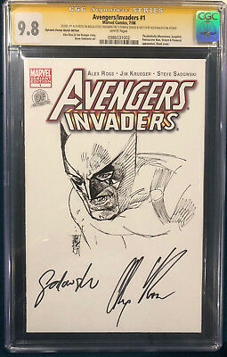 ALEX ROSS signed ORIGINAL ALEX MALEEV Sketch Art CGC 9.8 Wolverine X-Men Logan
