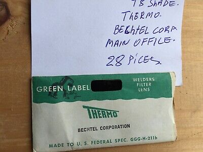Thermo Bechtel Corp Welder Filter Lens T8 Shade Lot of 28