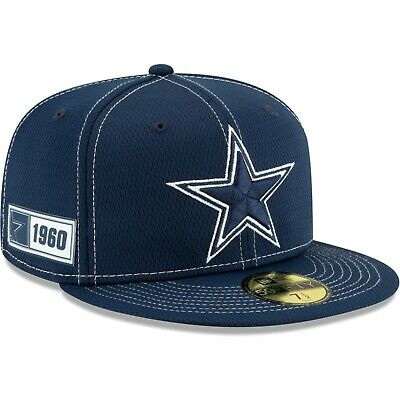 Dallas Cowboys 2019 NFL Sideline Road Official 59FIFTY Fitted Hat – Navy