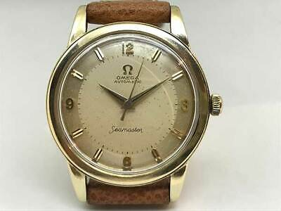 OMEGA Seamaster 14K Gold Two Tone Dial Automatic winding vintage Watch 1950's
