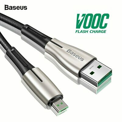 Baseus Micro USB Cable 4A VOOC Flash Charge For OPPO 2A Core For Samsung Wire 2m