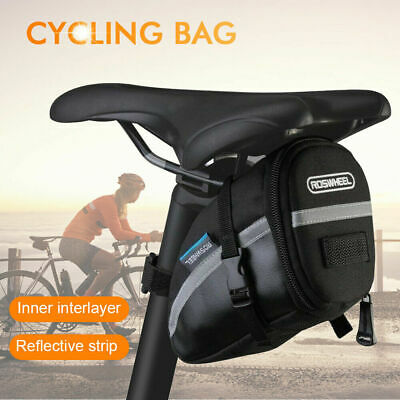 Waterproof Road Bike Cycling Bicycle MTB Saddle Bag Rear Seat Tail Storage Pouch