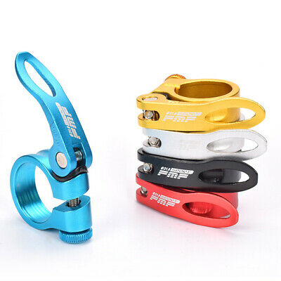 34.9//31.8mm Bicycle Road MTB Bike Quick Release Seat Post Clamp Tube Clip S1V4