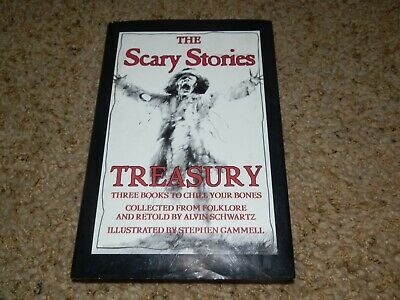 The Scary Stories Treasury by Alvin Schwartz Hardcover w/Book Jacket