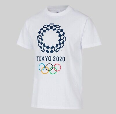 NEW TOKYO 2020 Olympic games Basic T-shirt white Size S M L XL JAPAN F/S