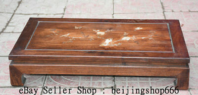 """24"""" China Huanghuali Wood inlay Shell Dynasty Flower Birds Table Desk Furniture"""