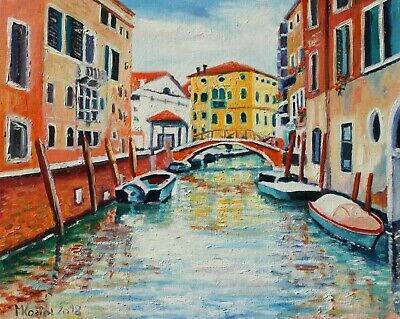 (D) oil painting VENICE ITALY signed MKoziol_ 30x24cm