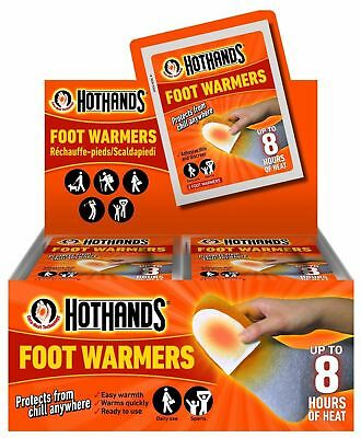 1-20 PACKS OF 2 Hothands FOOT FEET warmers Heat Warming Raynauds outdoor walking