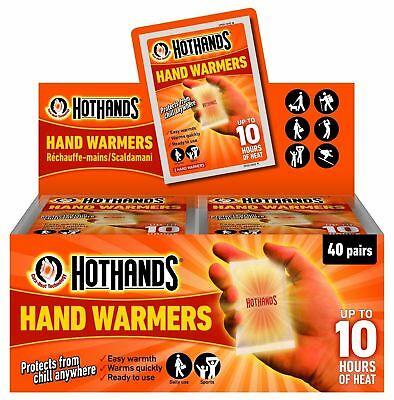 1-10 PACKS OF 2 HotHands hand warmers Heat Warming Raynauds outdoor cold walking