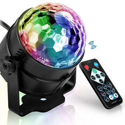 Party Disco Lights Strobe Led Dj Ball Sound Activated Dance Bulb Lamp BVF
