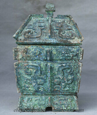 """11"""" Chinese Palace Old antique Bronze Ware Granary Barn Storeroom Warehouse"""