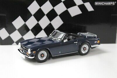TRIUMPH TR6 1969 Blue On Brown 1:43 Model Triumph New Old