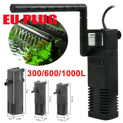 Hidom Internal Aquarium Fish Tank Filter Filtration Submersible Pump + Spray Bar