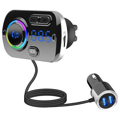 Car MP3 Player Bluetooth FM Transmitter Hands-free Kit Audio Modulator Charger