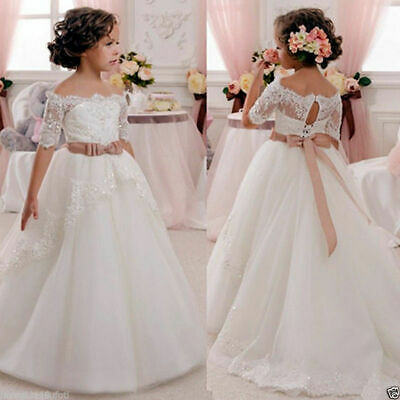 Wedding Party Flower Dress Girl Holy Communion Party Prom Princess Pageant Dress
