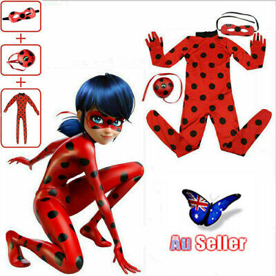 Kids Miraculous Ladybug Cosplay Costume - Jumpsuit Outfits Tight Dress Girls AU