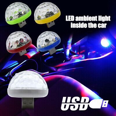 KF_ USB Mini LED RGB Disco Stage Light Party Club DJ KTV Xmas Magic Phone Ball