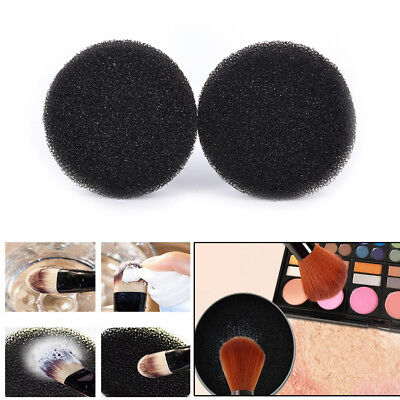 2Pcs Color Makeup Brush Clean Eye Shadow Sponge Cleaner Tool Switch Cosmetic HU