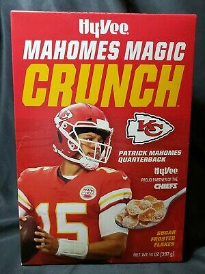 LOT of 5 boxes of Mahomes Magic Crunch Cereal! Collector's Edition!
