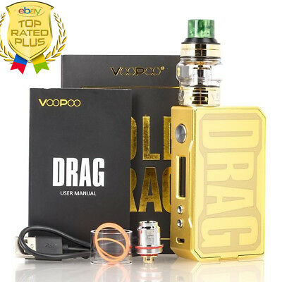 Authentic VOOPOO1 Drag Gold 157W Mod Kit Inc. UFORCE Tank! EXTRAS! 😍