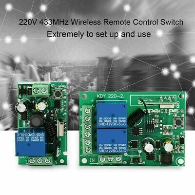 433MHZ 1/2CH Channel Wireless RF Remote Control Switch Receiver Relay 220V